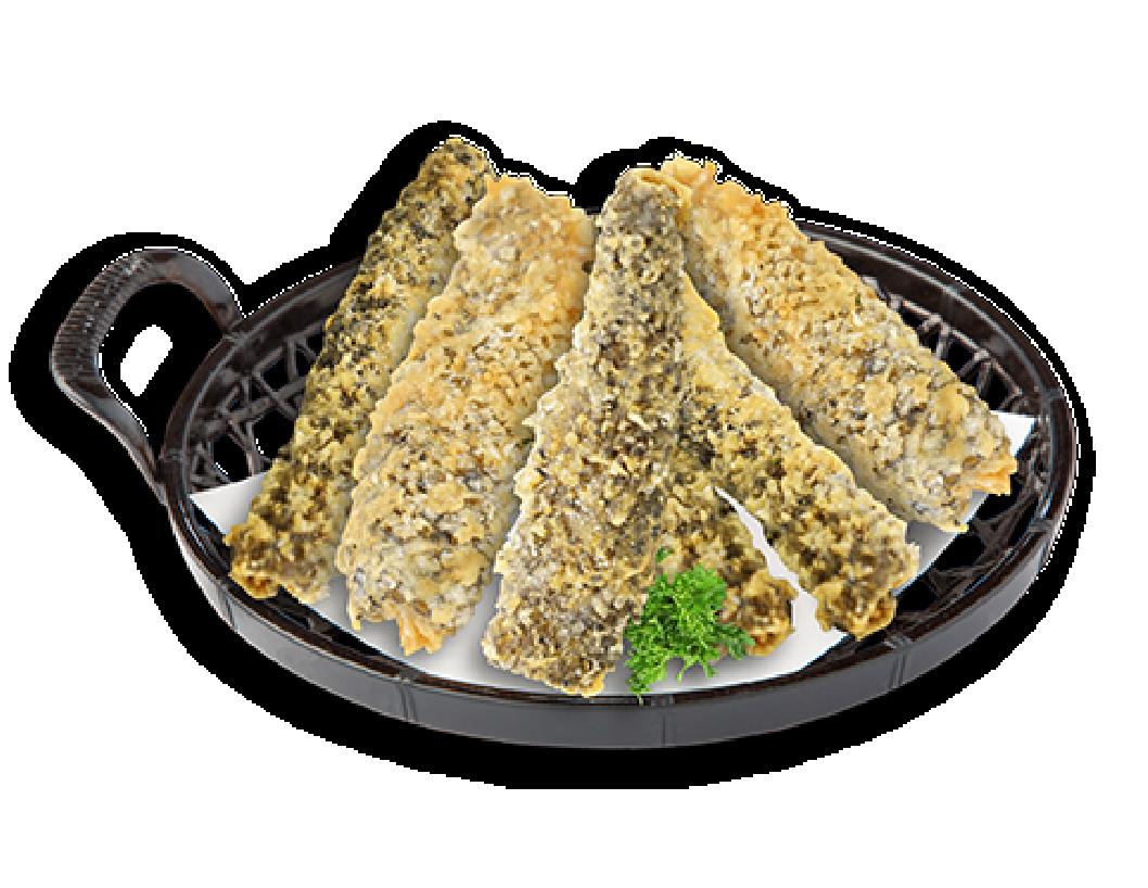 蒜香鮮炸三文魚皮