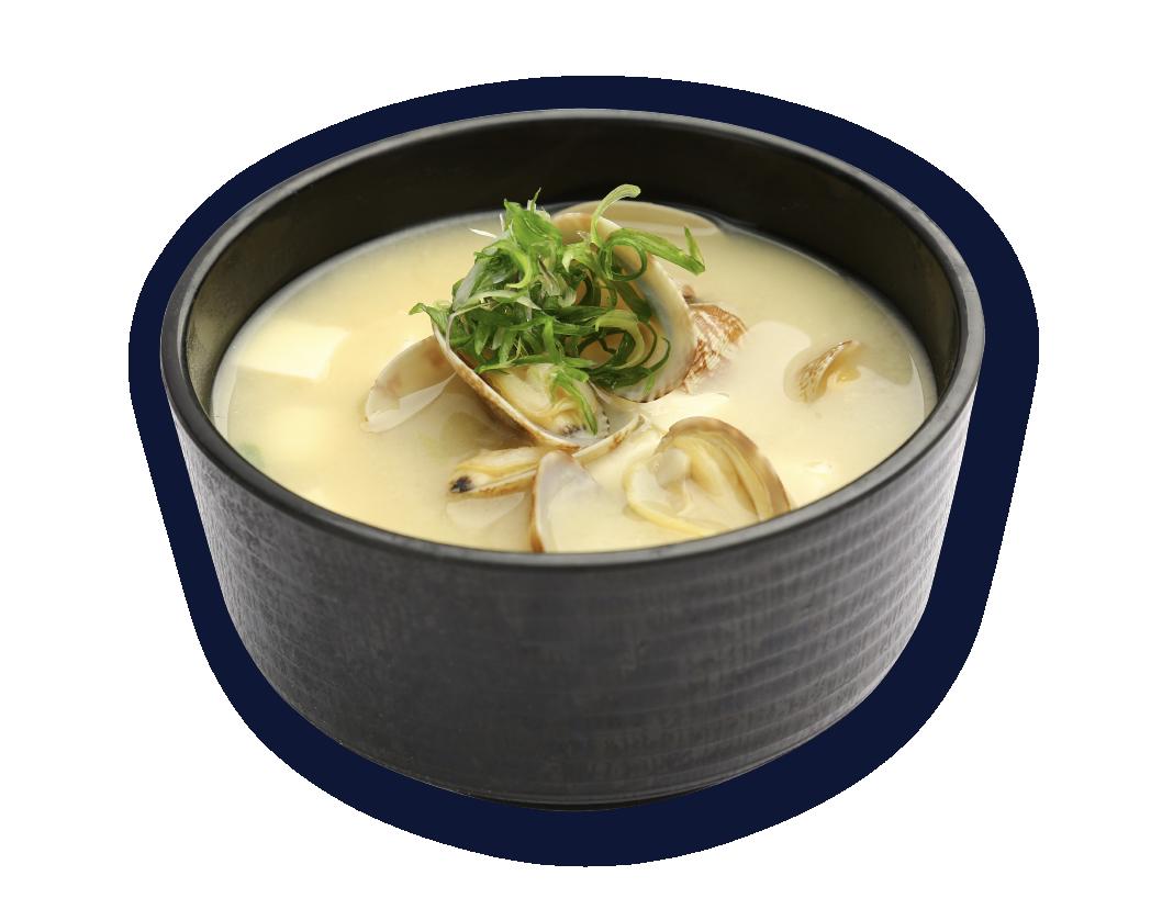 花蛤鮮魚味噌湯