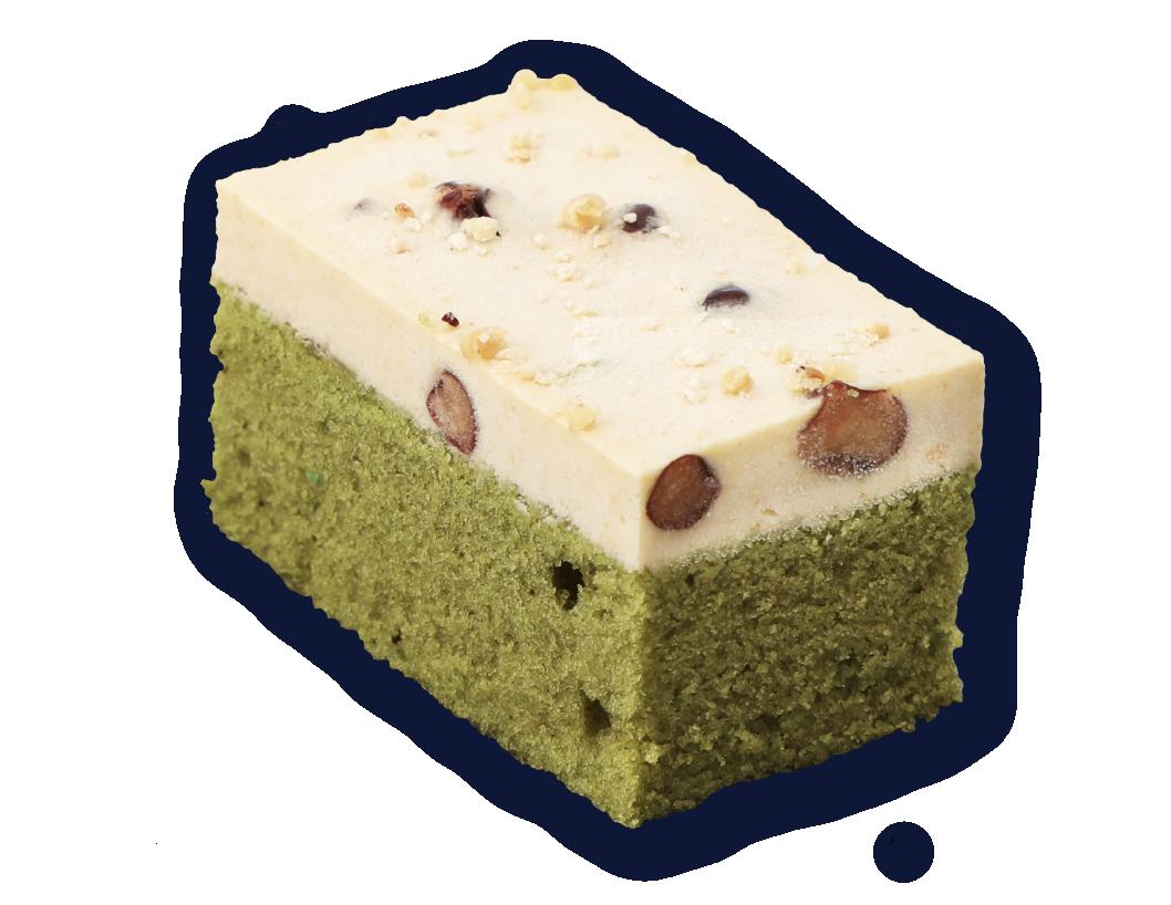 抹茶黃豆粉蛋糕