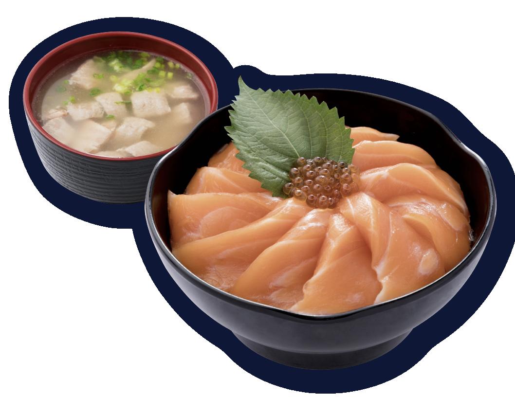 三文魚籽丼飯