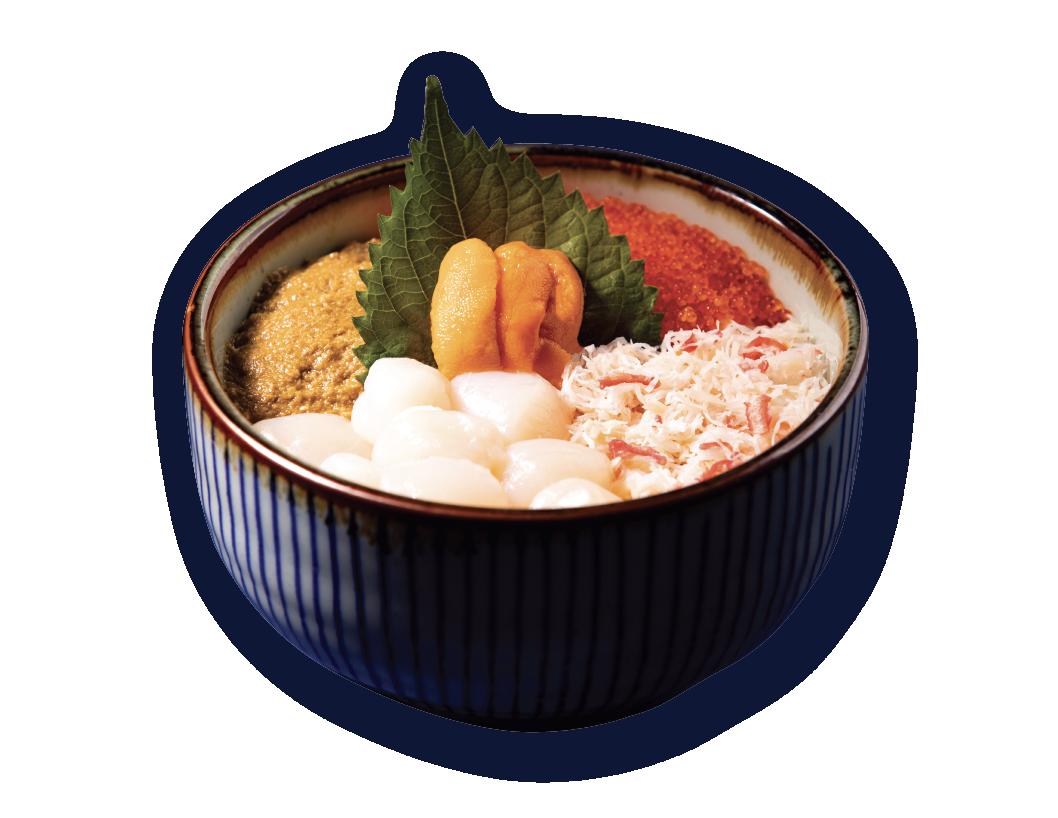 松葉蟹肉四鮮丼