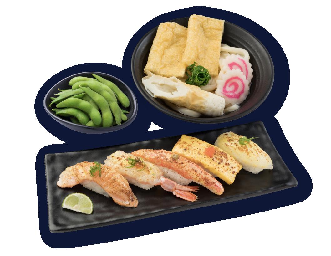 炙燒壽司烏冬定食