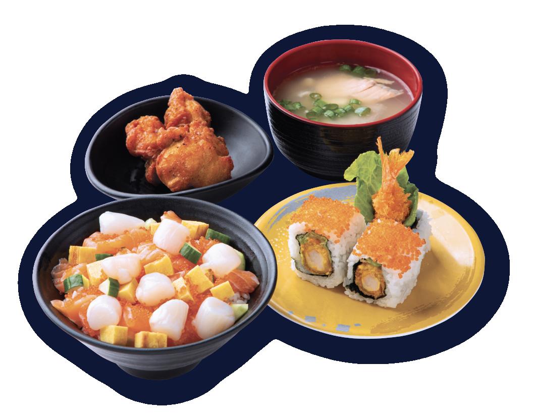 三文魚小柱丼定食