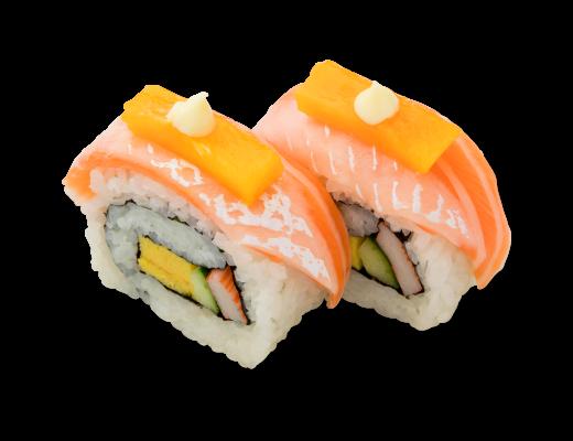 芒果三文魚卷