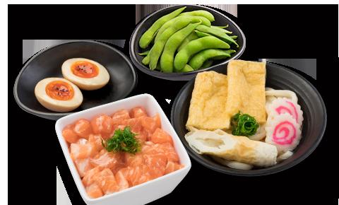 三文魚丼烏冬定食