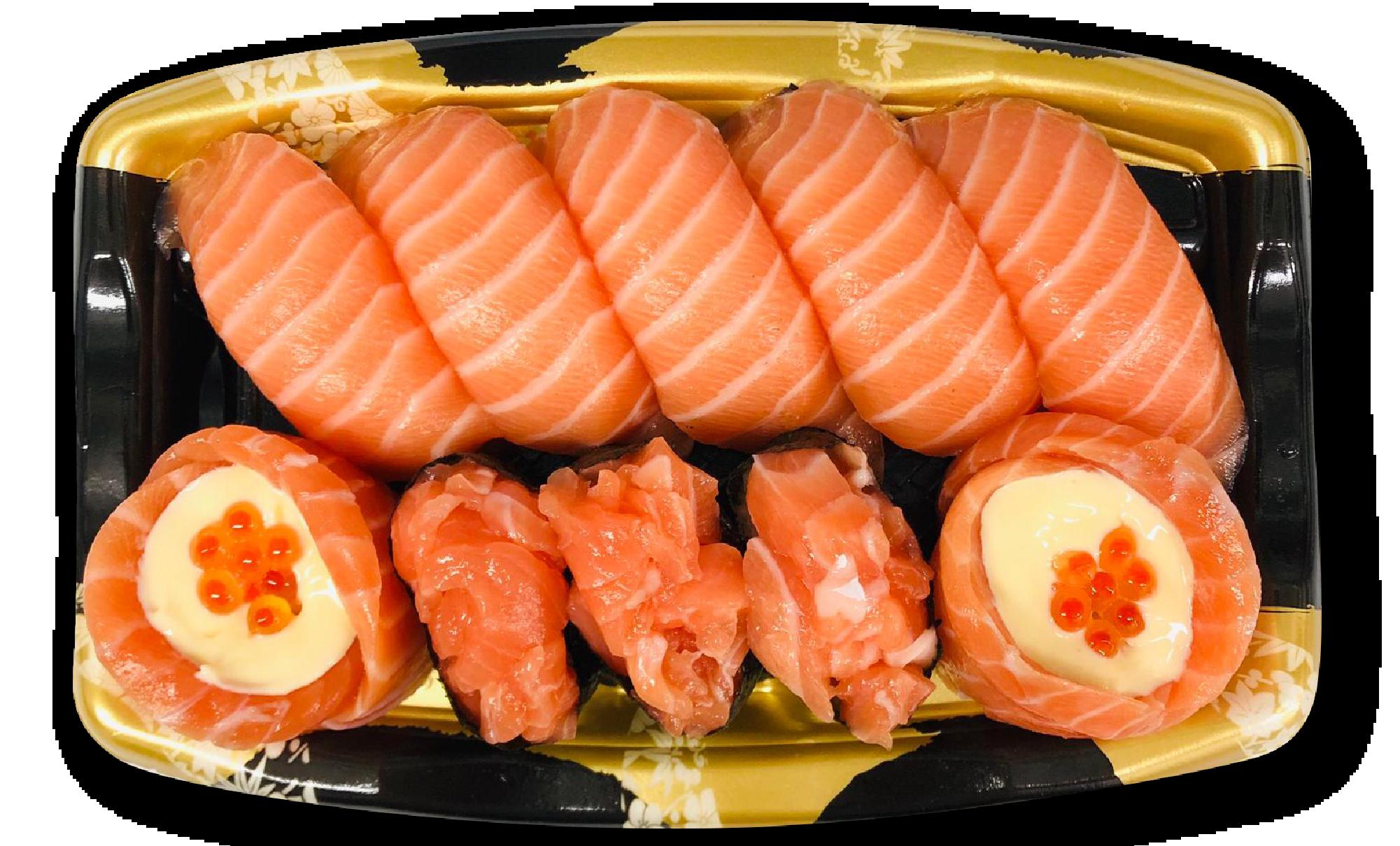三色三文魚盛