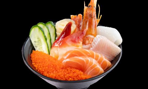 迷你五色海鮮丼