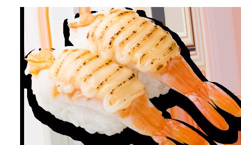 火炙芝士蝦壽司