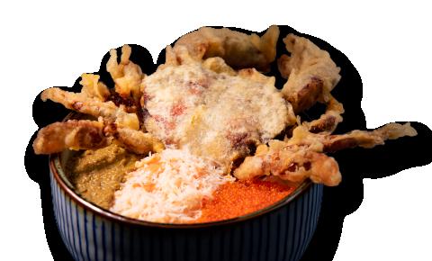 極鮮蟹天丼