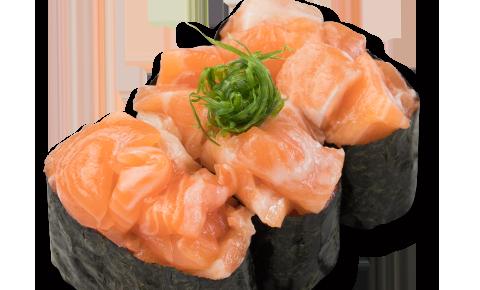 蔥花三文魚壽司